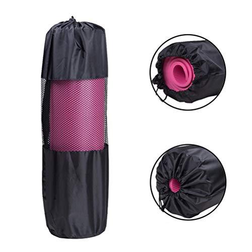 JSSEVN Yoga Mat Tas Nylon Mesh in het midden verstelbare riem wasbare tas, draagbare nuttige Pilates nylon yoga Mat Bag Carrier Mesh Center verstelbare riem