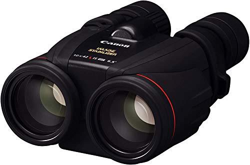 Canon 10x42L IS WP Fernglas (10 fache Vergrößerung, Premium Fernglas, wasserresistent, Feldstecher, IS Bildstabilisator, manuelle Fokussierung, Dioptrinkorrektur, Porroprisma II), schwarz
