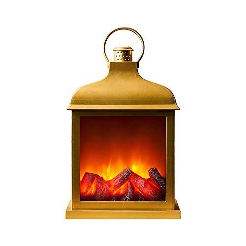 ZWJ-Lámpara de llama Chimenea De La Lámpara Led Llama Entrar Efecto Chimenea Cepillado Estilo Adornos Cosy Home Decor Luces decorativas (Color : A)