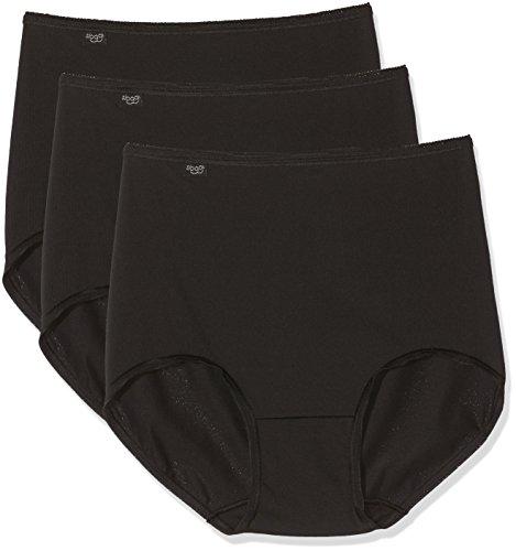 Sloggi Damen Hohe Taille Höschen ((Herstellergröße: EU 38 / FR 40), Noir (Noir))