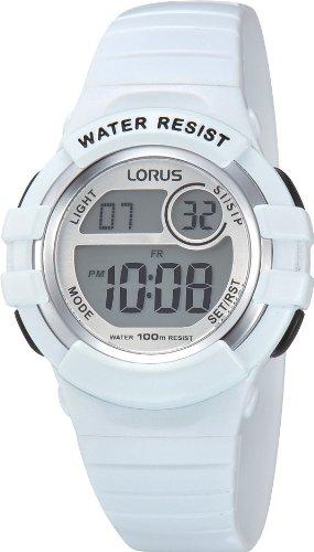 Lorus Watches Unisex Digital Quarz Uhr mit Kautschuk Armband R2383HX9