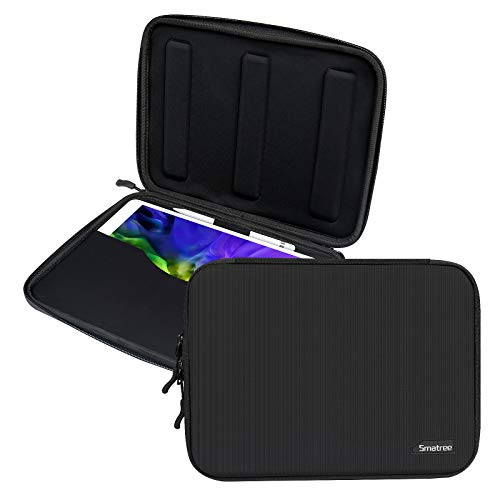 Smatree Estuche Rígido para Tableta de 11 Pulgadas, Funda Tablet Maletin para iPad Pro 11 Pulgadas/iPad Air 10.9 Pulgadas/ 11 Pulgadas Samsung Galaxy Tab S7 / Surface GO 2, Negro