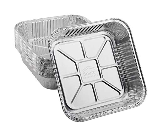 """55 PACK  Aluminum Square Pans Roasting Pans Disposable Baking Pans Square Cake Pans For Baking Brownies and Meal Prep Aluminum Pans in Bulk For Catering Top: 8#039#039x8#039#039 Bottom: 65"""" x 65"""""""