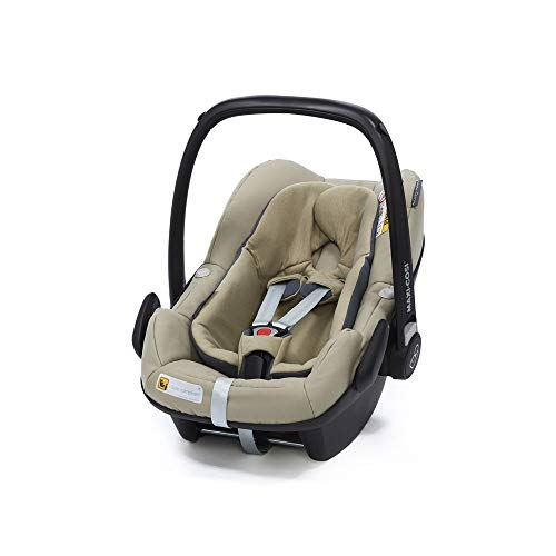 Maxi-Cosi Pebble Plus Babyschale, sicherer Gruppe 0+ i-Size Kindersitz (0-13 kg), nutzbar ab der Geburt bis ca. 12 Monate, passend für FamilyFix One Basisstation, sand