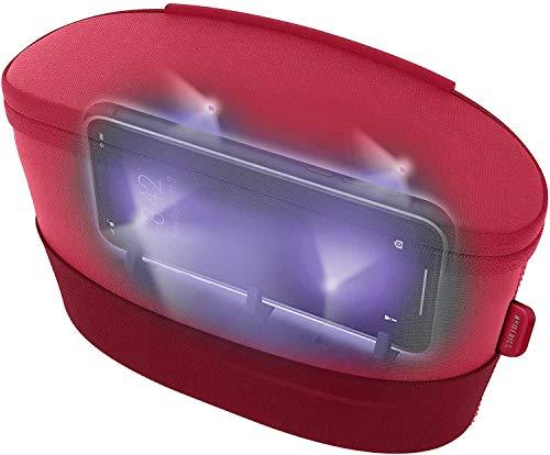 HoMedics UV Clean Sanitizer Bag Portable UV Light Sanitizer, Fast Germ Sanitizer for Cell Phone, Makeup Tools, Credit Card, Keys, Glasses, Kills 99.9% of Bacteria & Viruses, Red
