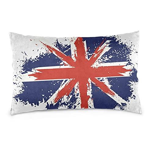 Fundas de Almohada 16X24 Pulgadas Grunge Gran Bretaña Bandera Fundas de Almohada Sofá Coche Funda de cojín Decorativo para el hogar 40X60CM