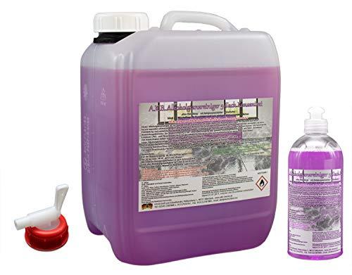 A.K.B. Alkohol-Glanzreiniger 5-Fach Konzentrat (idealer Alkoholglanzreiniger als Bodenreiniger, Hartbodenreiniger), 0050 (10 L + 0,5 L + 1kl.Hahn),Allzweckreiniger,Allesreiniger