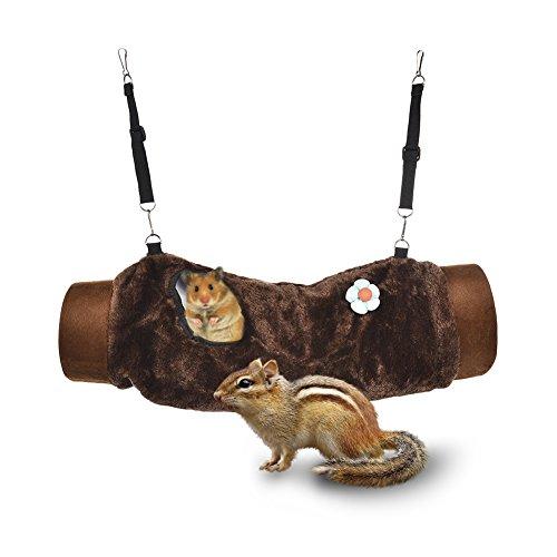 yunt Raschel túnel Casa Nido cueva juguete Jaulas túnel de peluche para animales pequeños hámster cobaya adolescente Ratas