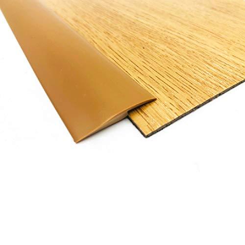 ZZLQIAN 2 m PVC-Gummi, Übergangstürleiste, Bodenschwellenleiste, Teppichkantenleiste, selbstklebend, Teppichzierleisten, Teppich-Türleisten, geeignet für Übergänge von Steigungsschwellen unter 5 mm