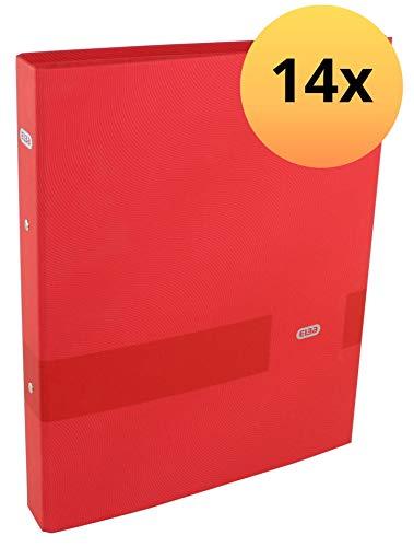 Elba 400116160 ringband Touch Office A4 14 stuks met rugbreedte 4 cm 2-O-ringmechanisme 30 mm rood