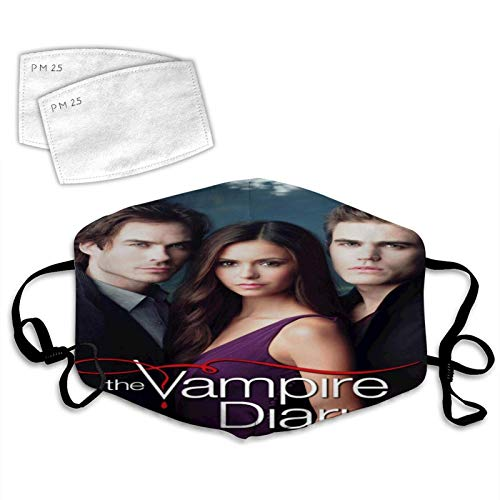 Face Cover 3D Vampire Diaries Poster Anti-Dust Thanksgiving Cloth Windproof Cover Adjustable Elastic Strap-The Vampire Diaries Cast