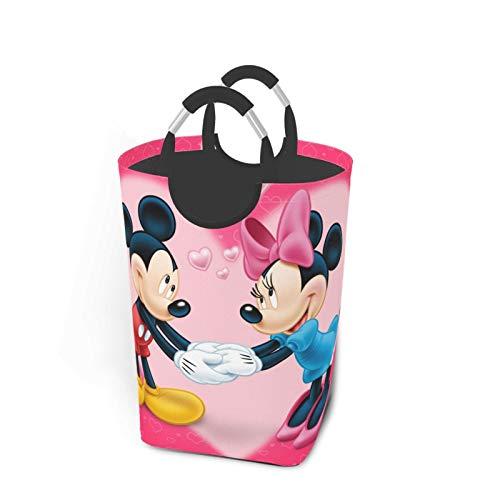 Mickey Mouse Minnie - Juego de ropa sucia, plegable, para viajes, baño, hogar, universidad, dormitorio de hombres y mujeres, 50 L