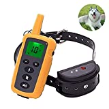 NINGXUE Dog <span class='highlight'>training</span> waterproof pet dog collar, automatic electric shock dog <span class='highlight'>training</span> clothes tie remote control beginner - 800 m,One
