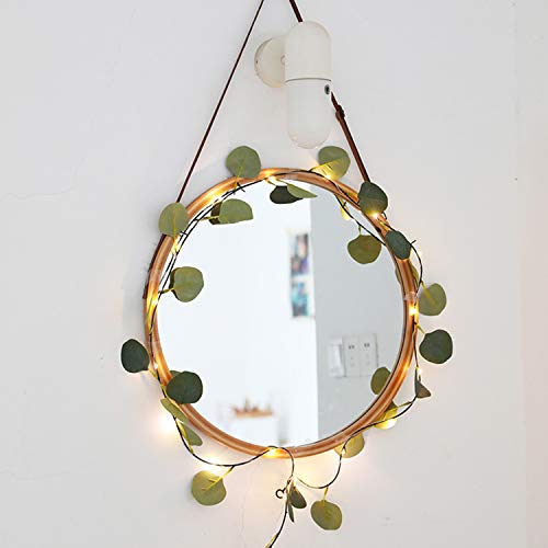 Sunydog 32.8 pies 100 LED Cadena de luces de hadas Luces colgantes decorativas USB en forma de hoja Bombillas blancas cálidas Luces de alambre de cobre Impermeable Jardín Patio Paisaje Iluminación del