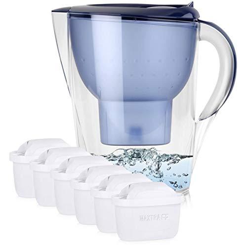 BRITA Marella XL 3,5L Wasserfilter Blau inkl. 6x Maxtra+ Kartuschen