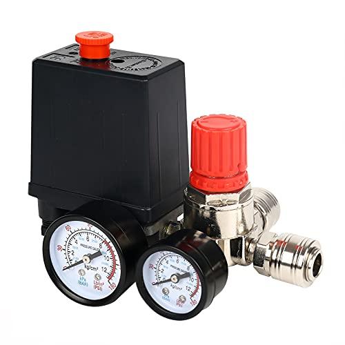 Druckschalter Luftkompressor Druckregler Kompressor mit Manometer Druckschalter Schalter Kompressor Luftkompressor Steuerventil Regler
