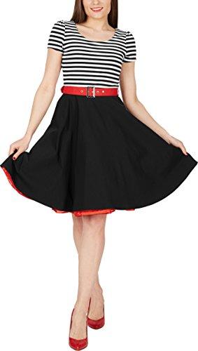 BlackButterfly 'Maria' Vintage Gestreift Pin-up-Kleid - 4