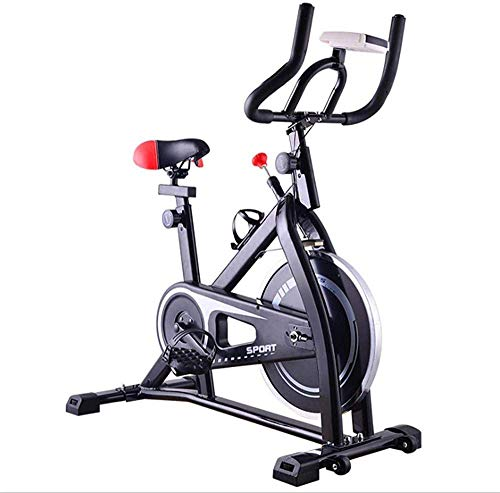 WGFGXQ Bicicleta estática Bicicleta magnética Bicicleta de Fitness Bicicleta estática con cojín de Asiento Extragrande Uso doméstico en Interiores para Entrenamiento Cardiovascular en casa