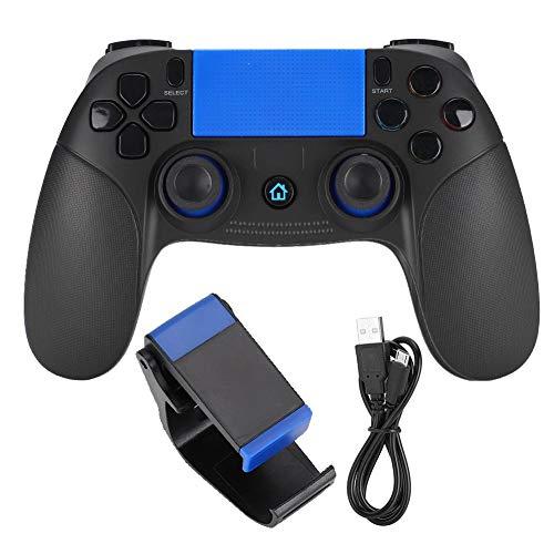 Socobeta Gamepad Bluetooth Wireless Game Controller Tragbares Gamepad Kompatibel mit Android(Schwarz Blau)