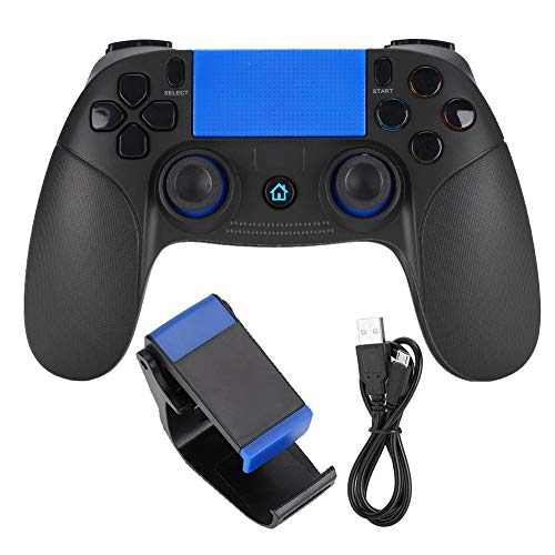 Socobeta Gamepad Bluetooth Wireless Game Controller Tragbares Gamepad Kompatibel mit Android IOS(Schwarz Blau)