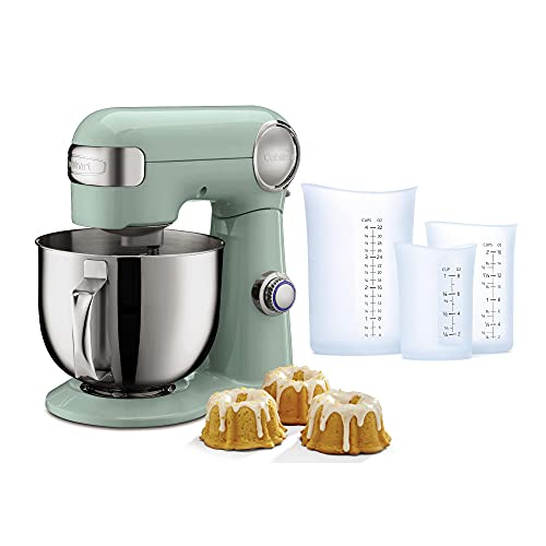 Cuisinart Precision Master 5.5-Quart Stand Mixer (Green) with Set of 3 Measuring Cups Bundle (2 Items)