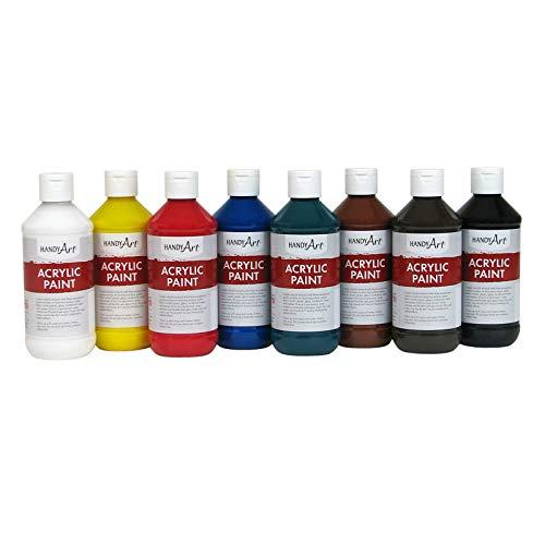 Handy Art 881020 Acrylic Paint, Assorted, 64 Fl Oz