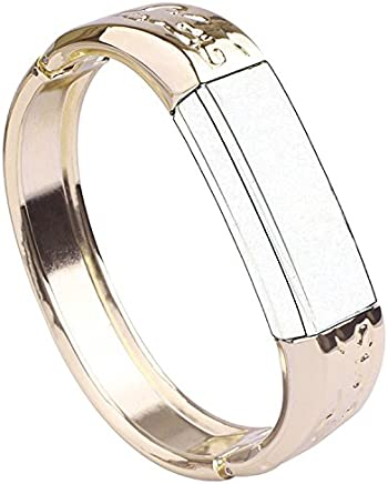 QGHXO Metal Band for Fitbit Alta HR and Alta, Replacement Metal Watch Band for Fitbit Alta HR and Alta (4 Color: Rose Gold, Silver, Black, Gold)