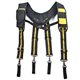 Tirantes de cinturón para herramientas - Herramienta de tirantes de trabajo para trabajo pesado, tirantes de cinturón con ranura para lápiz para teléfono Plataforma de suspensión de trabajo para elect