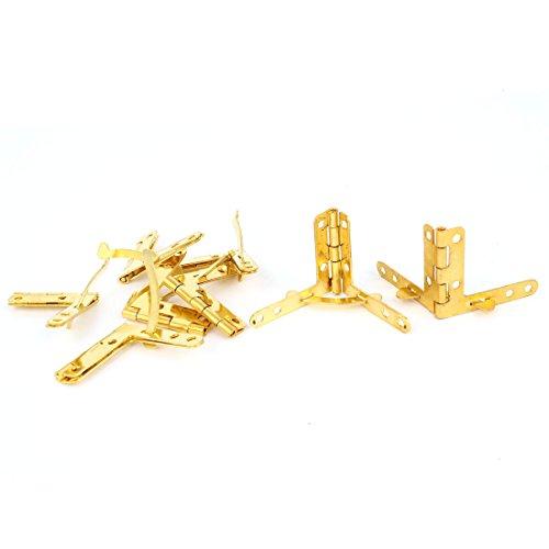 8 stuks goudkleurig opvouwbare kast raam lade hoek butt scharnieren