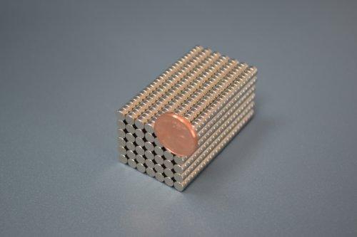 100 Neodym-Supermagnete 4 x 2 mm