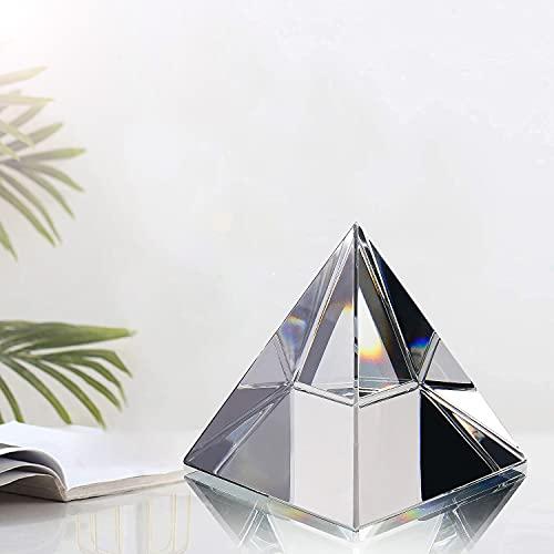 H&D HYALINE & DORA, Piramide trasparente, Vetro, Trasparente, medium