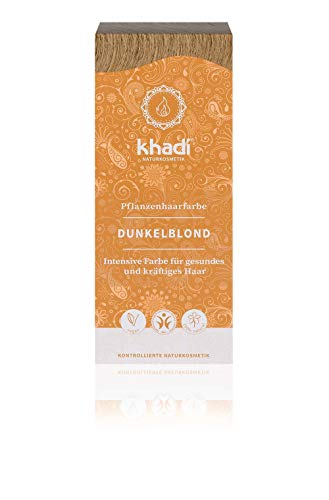 Khadi Tinte Herbal Color Rubio Oscuro, 500g, Pack de 1
