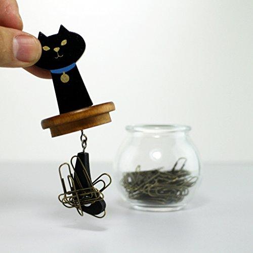 DECOLEmiranda猫しっぽクリップボトル黒猫ZMR-82873約φ65×h111単位(mm)