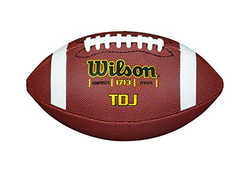 Wilson TDS Traditional Composite American Football, Braun, Junior
