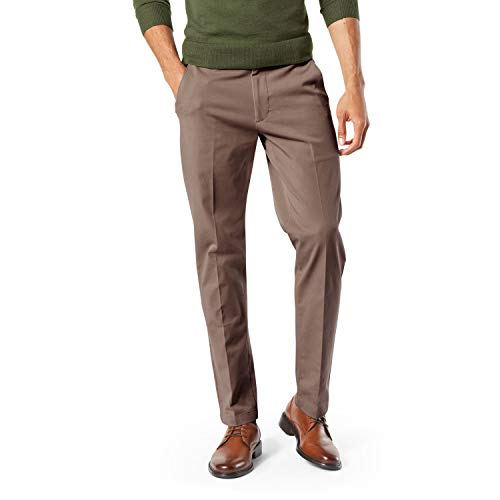 Dockers Men's Modern Tapered Workday Khaki Pants, Dark Pebble, 44 29