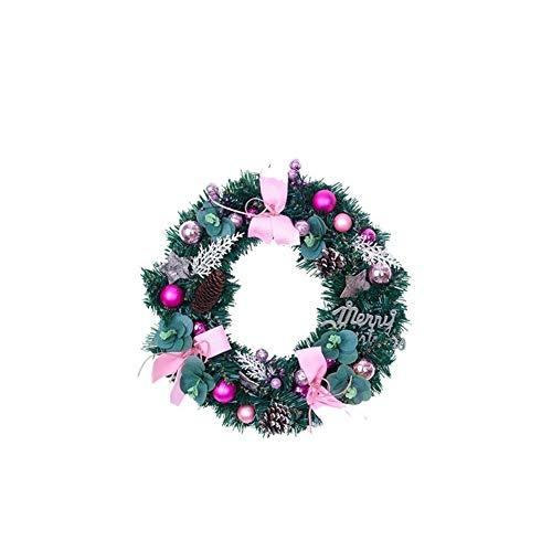 WINPSHENG Decorazioni Natalizie Handmade Sveglio Decorazione di Natale 40 Centimetri Rattan Corona di Natale Decorazioni Mall Corona (Size : Pink)