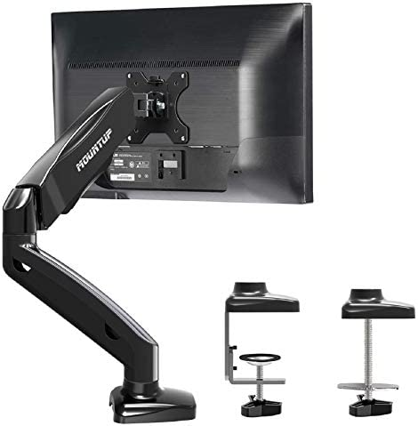 MOUNTUP Single Monitor Desk Mount Adjustable Gas Spring Monitor Arm VESA Mount with C Clamp product image