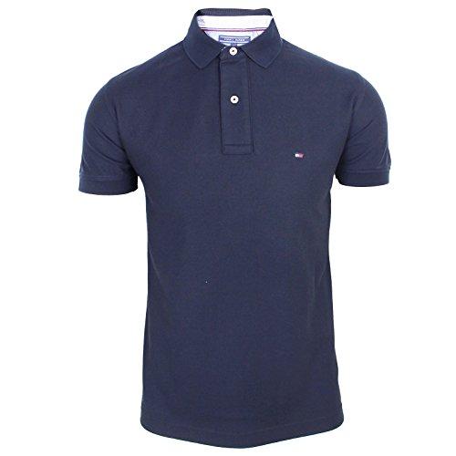 Tommy Hilfiger Herren CORE Hilfiger Regular Polo Poloshirt, Blau (Sky Captain 403), Medium