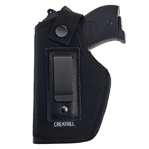 CREATRILL Inside The Waistband Holster | Size 1 Fits S&W Bodyguard, Ruger LCP, Kel Tec P3AT, Kahr P380, NAA Guardian, and Most .380 & Similar Pistols | Gun Concealed Carry IWB Holster