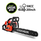 """Best Gasoline Chainsaws - Yiilove 20"""" 58CC Gas Powered Chainsaw 2 Stroke Review"""