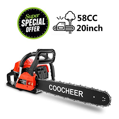 Yiilove 20' 58CC Gas Powered Chainsaw 2 Stroke Handed Petrol Gasoline Chain Saw for Cutting Wood...