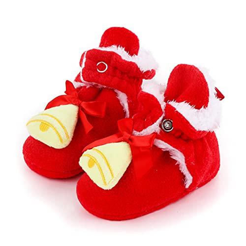 YALASUO Kleinkind Weihnachten Schuhe Jungen Mädchen Babyschuhe Rutschfest krabbelschuhe Herbst Winter Kinder Schuhe Weicher Boden Freizeitschuhe Cartoon Baby Schuhe