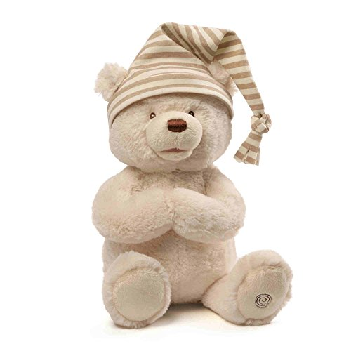 GUND Animated Goodnight Prayer Bear Spiritual Plush Stuffed Animal, 15'