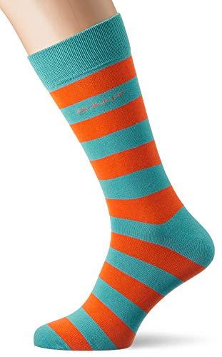 GANT Herren D1. 1 PACK CONTRAST BARSTRIPE Socken, Türkis (Aqua 450), One Size (Herstellergröße: Oversize)