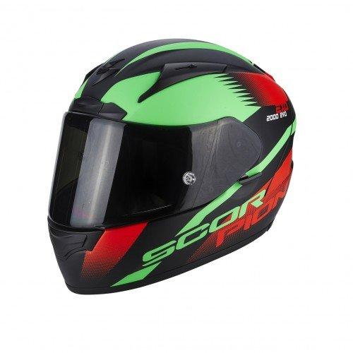 Scorpion Casco moto EXO-2000 EVO AIR Volcano Nero-Neon Rosso-Verde M