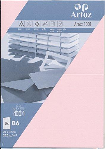 Artoz Papier AG – Doppelkarte B6 1001 Classic 5er-Pack zartrosa