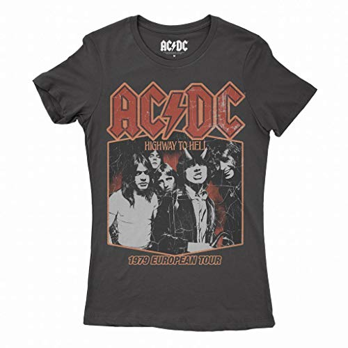 AC/DC European Tour 79 T-shirt Official Licensed Dames