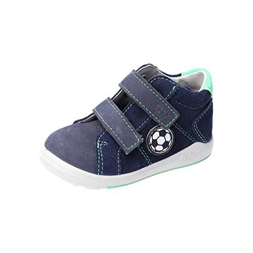 RICOSTA Jungen Kletthalbschuhe LINU von Pepino, Weite: Mittel (WMS), strassenschuh Sneaker freizeitschuh Kinder Jungen toben,Nautic,26 EU / 8 Child UK