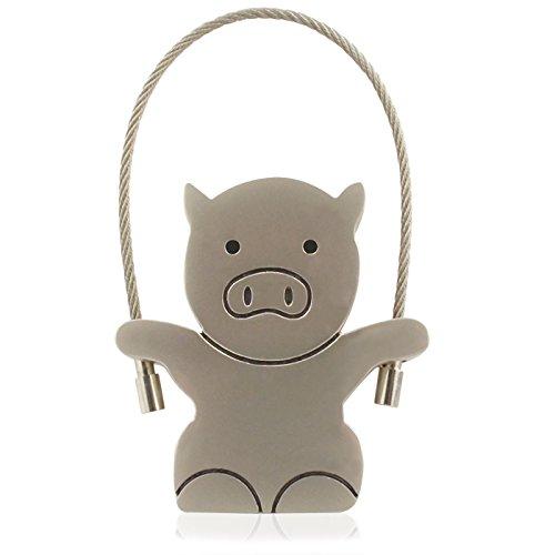 818-Shop No27300020008 USB-Sticks (8 GB) Schwein Schlüsselanhänger Metall Silber