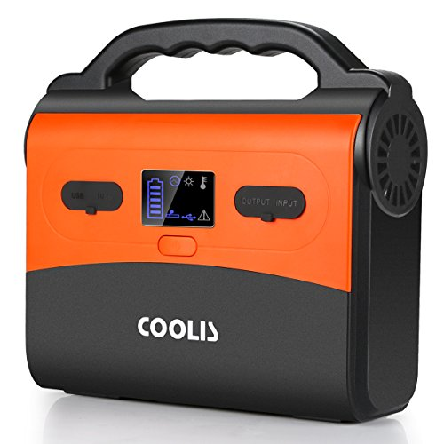 COOLIS 200Wh-54000mAh Portable Purely Sine Wave Lithium Battery Power Inverter Generator Power Station, with Silent 110V AC/12V DC/5V USB Output